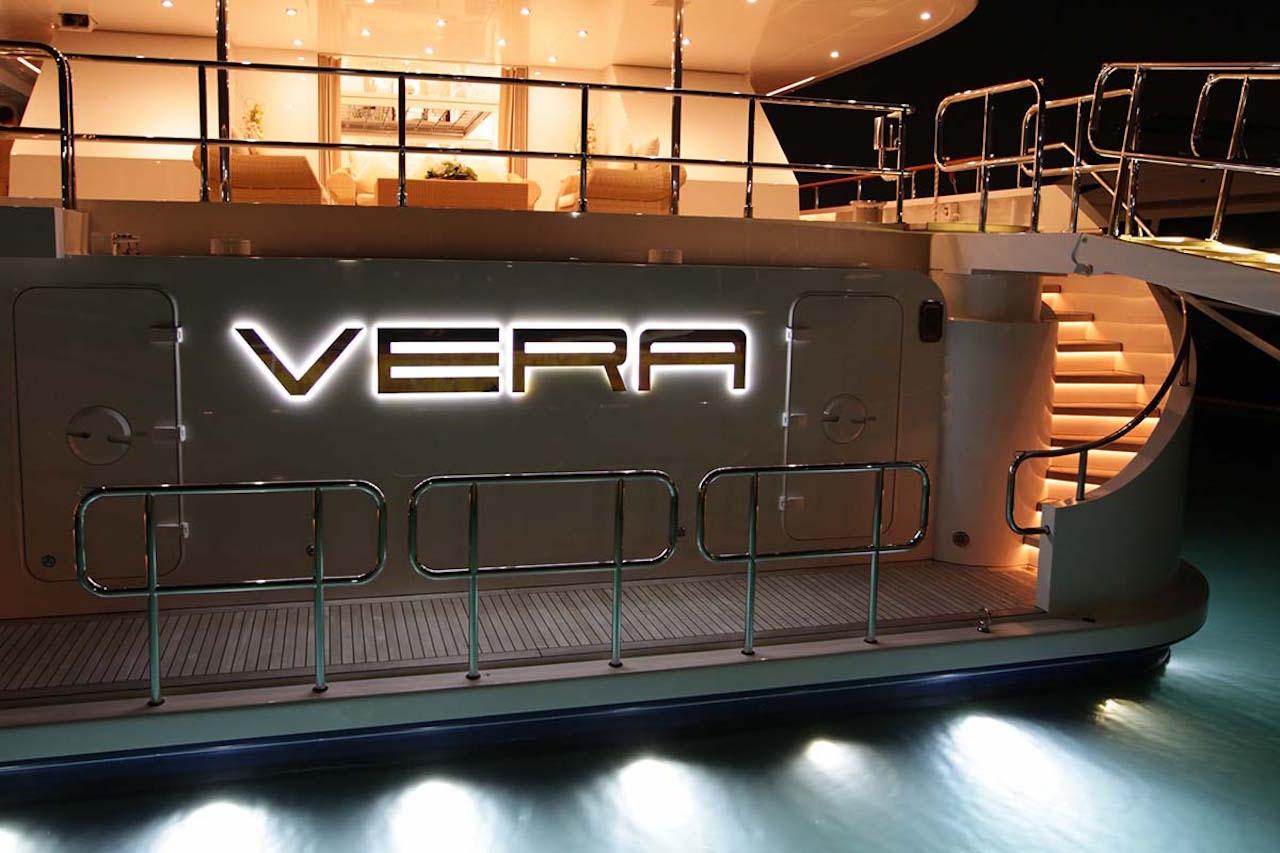 Vera Superyacht Aft Night