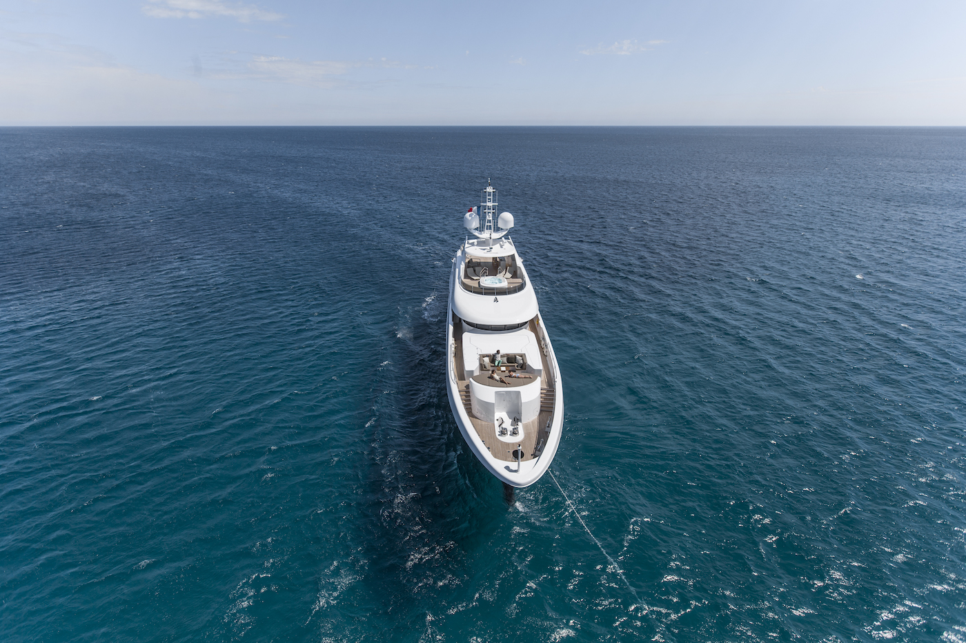 47m Heesen Yacht From Above