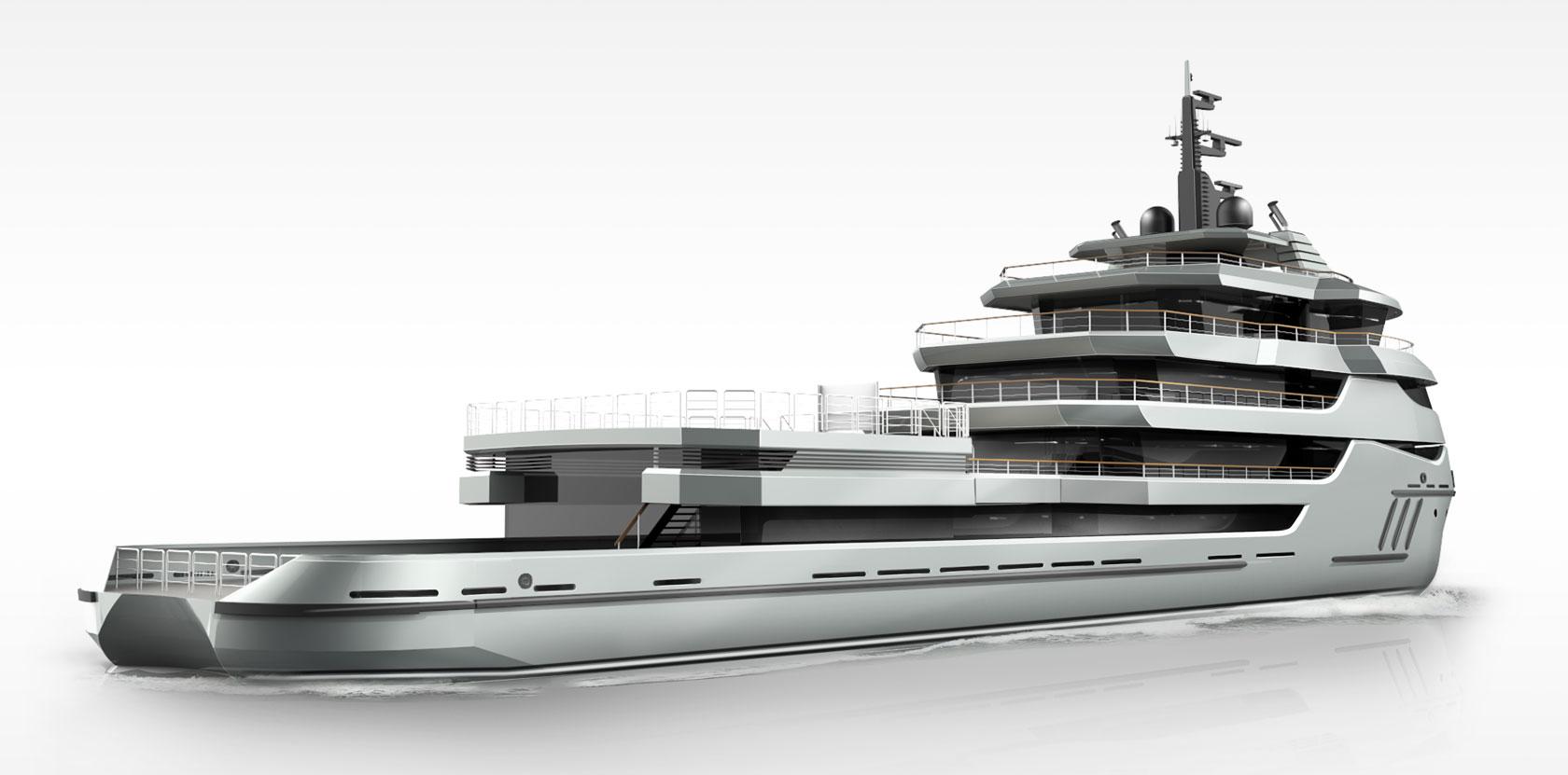 68m Conversion Explorer Superyacht Project
