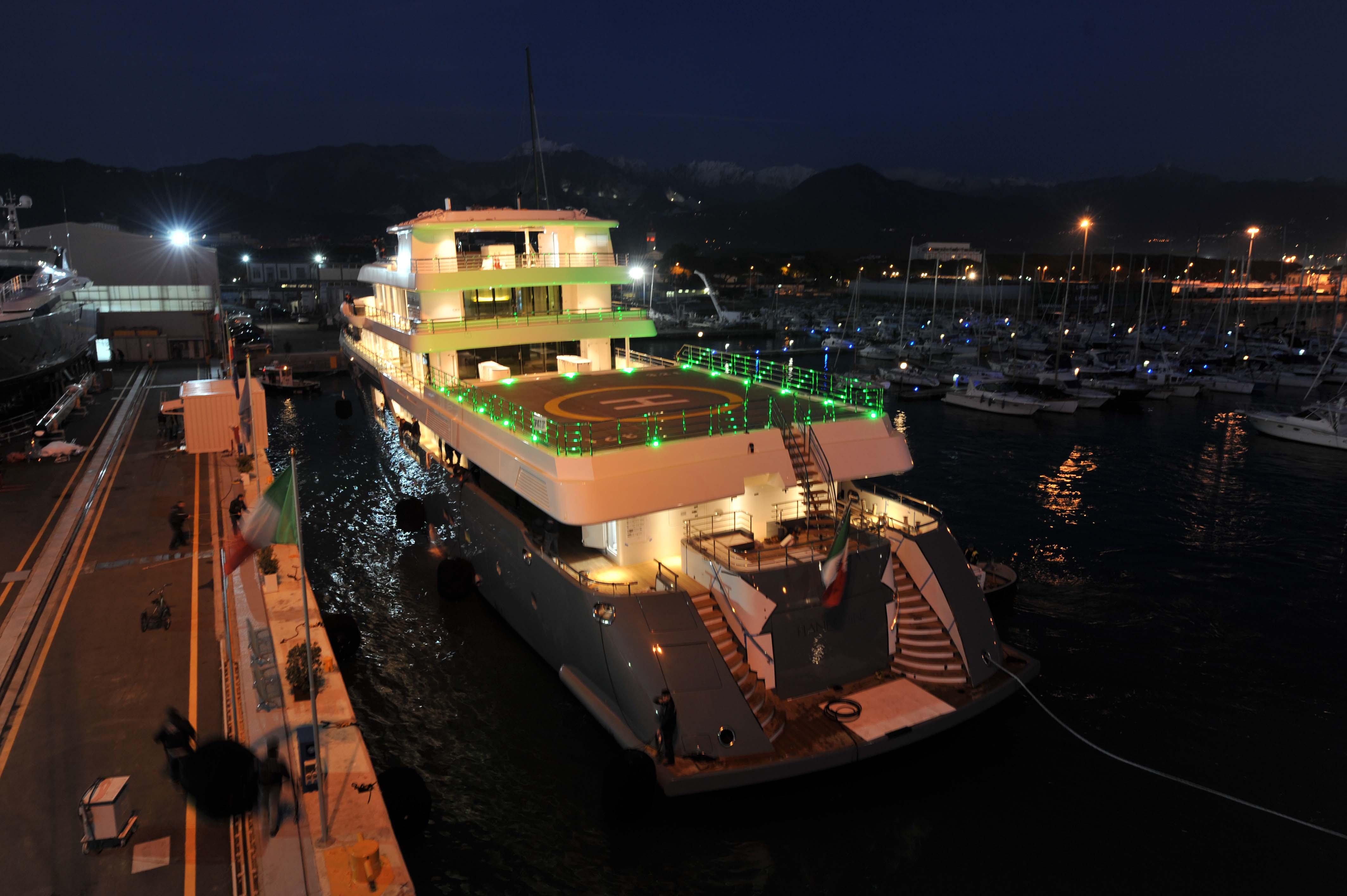 73m Explorer Yacht At Night