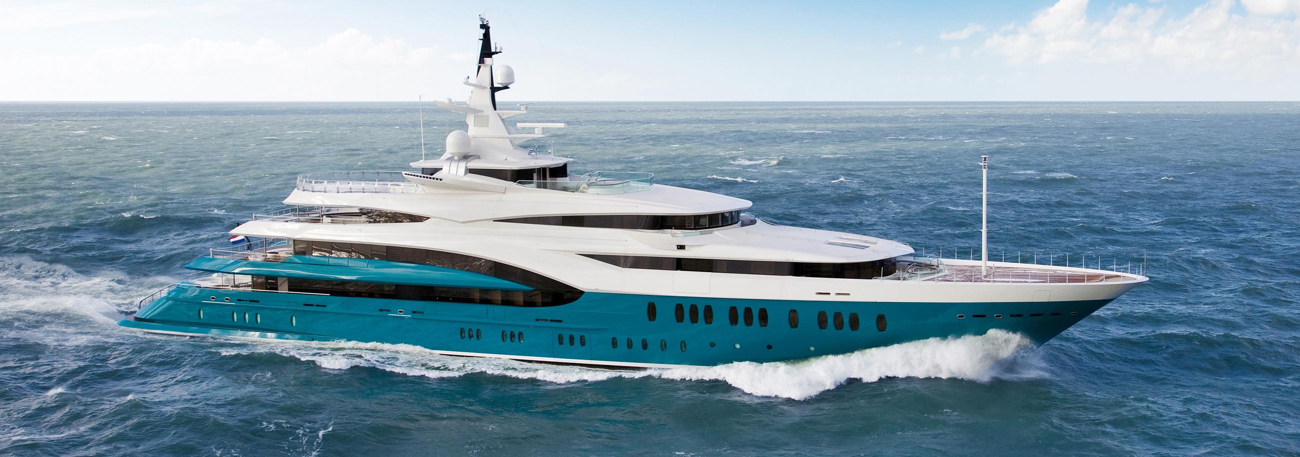 86m Oceanco Yacht Cruising Profile