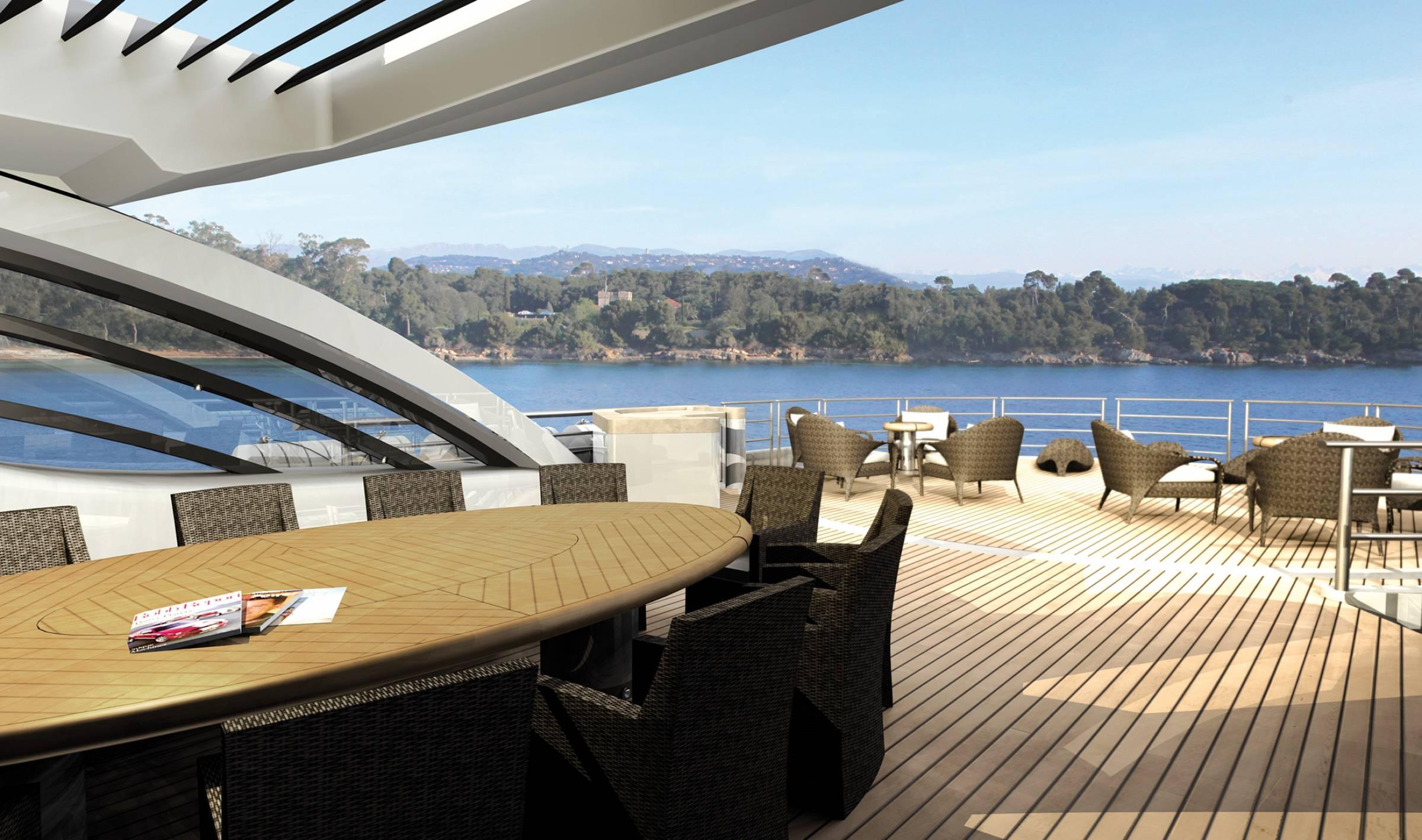 AMELS 212 Motor Yacht - Design Profile Rendering