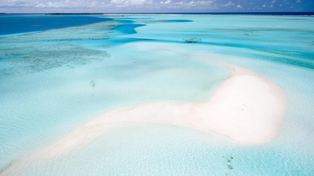 Aerial Shot - Beach In The Maldives