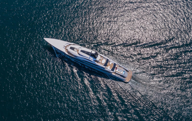 Aerial View Of The Mega Yacht TATIANA