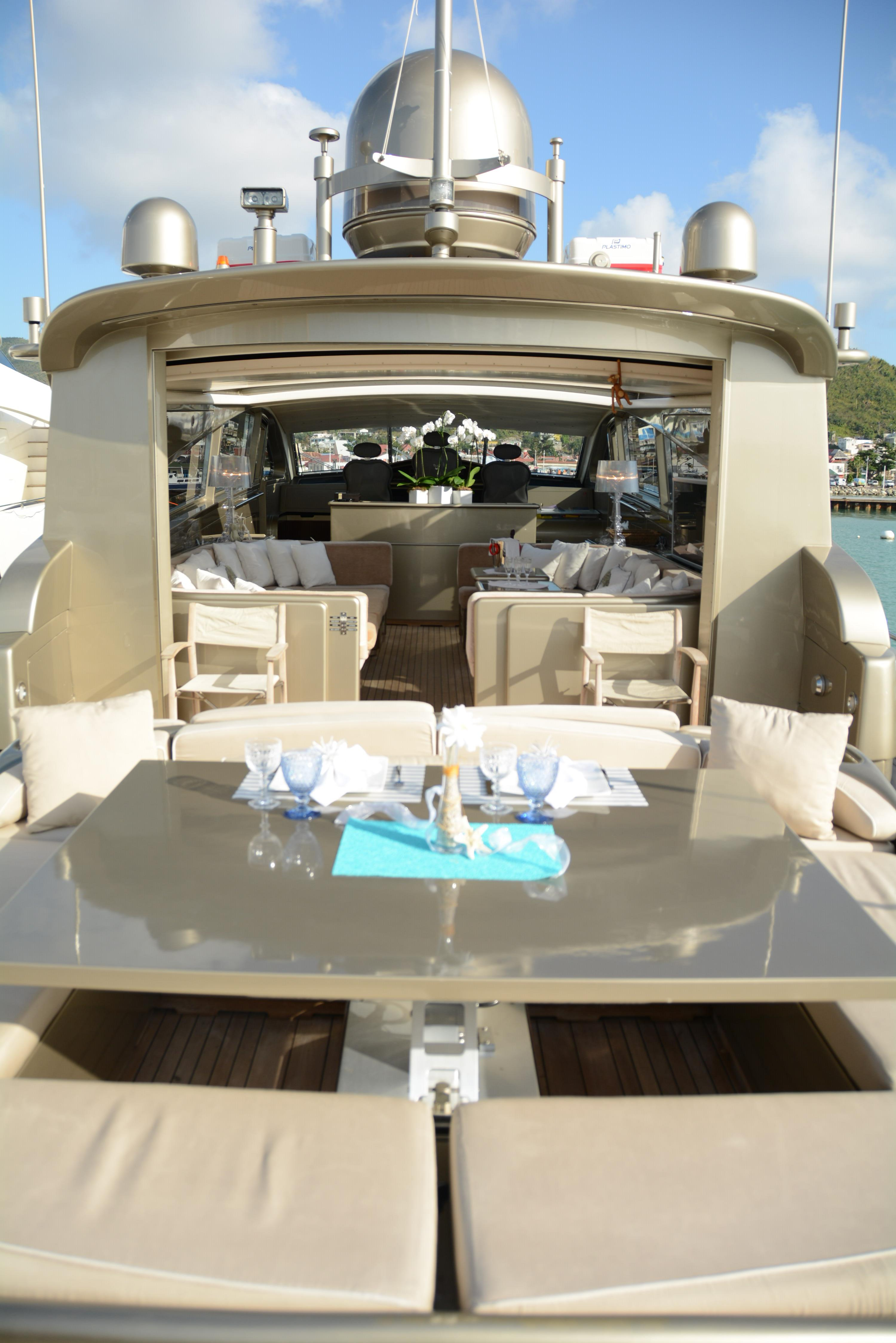 Aft Deck Table And Convertable Sunpad