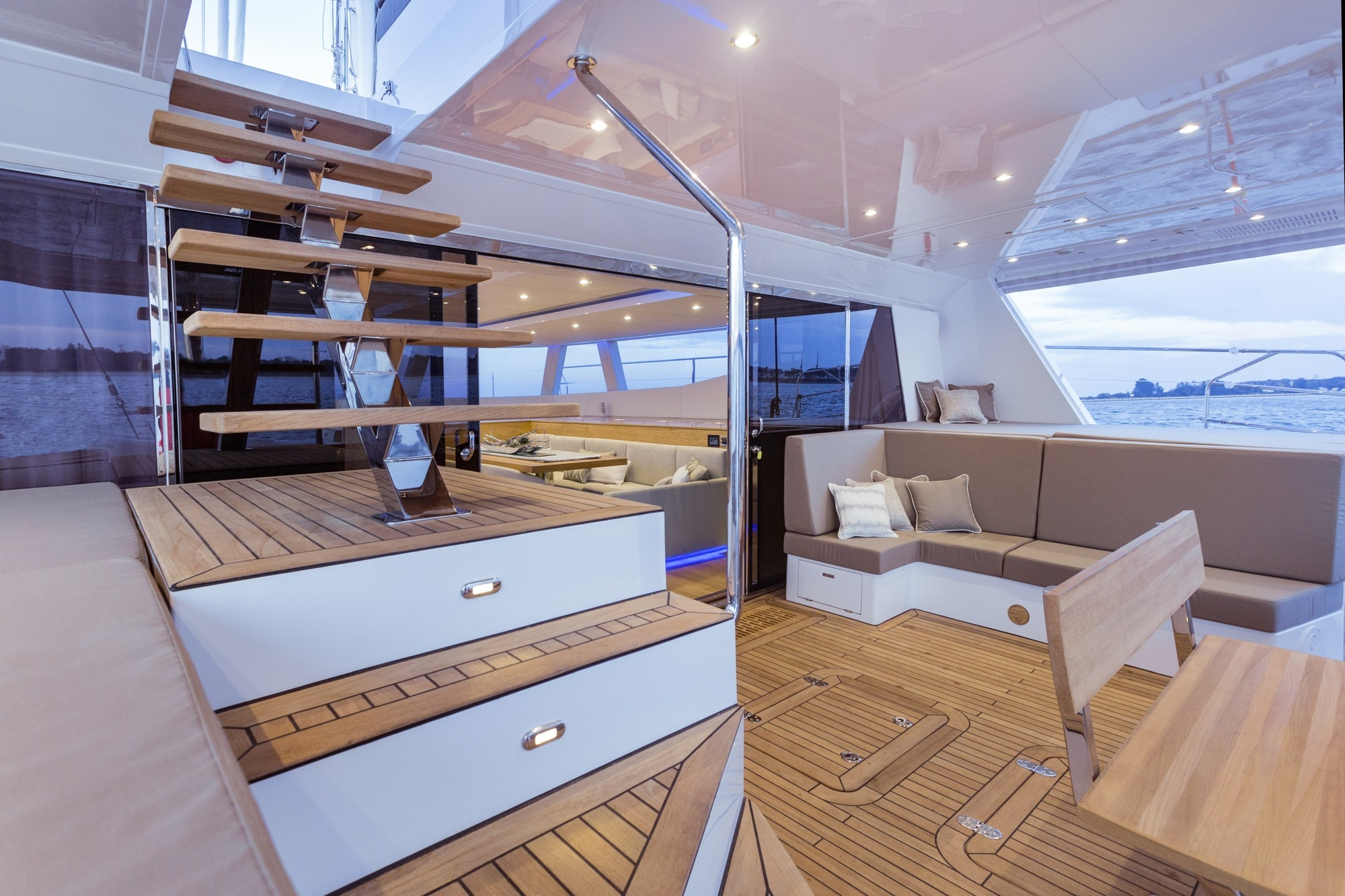 Aft Deck With Access To Upper Deck