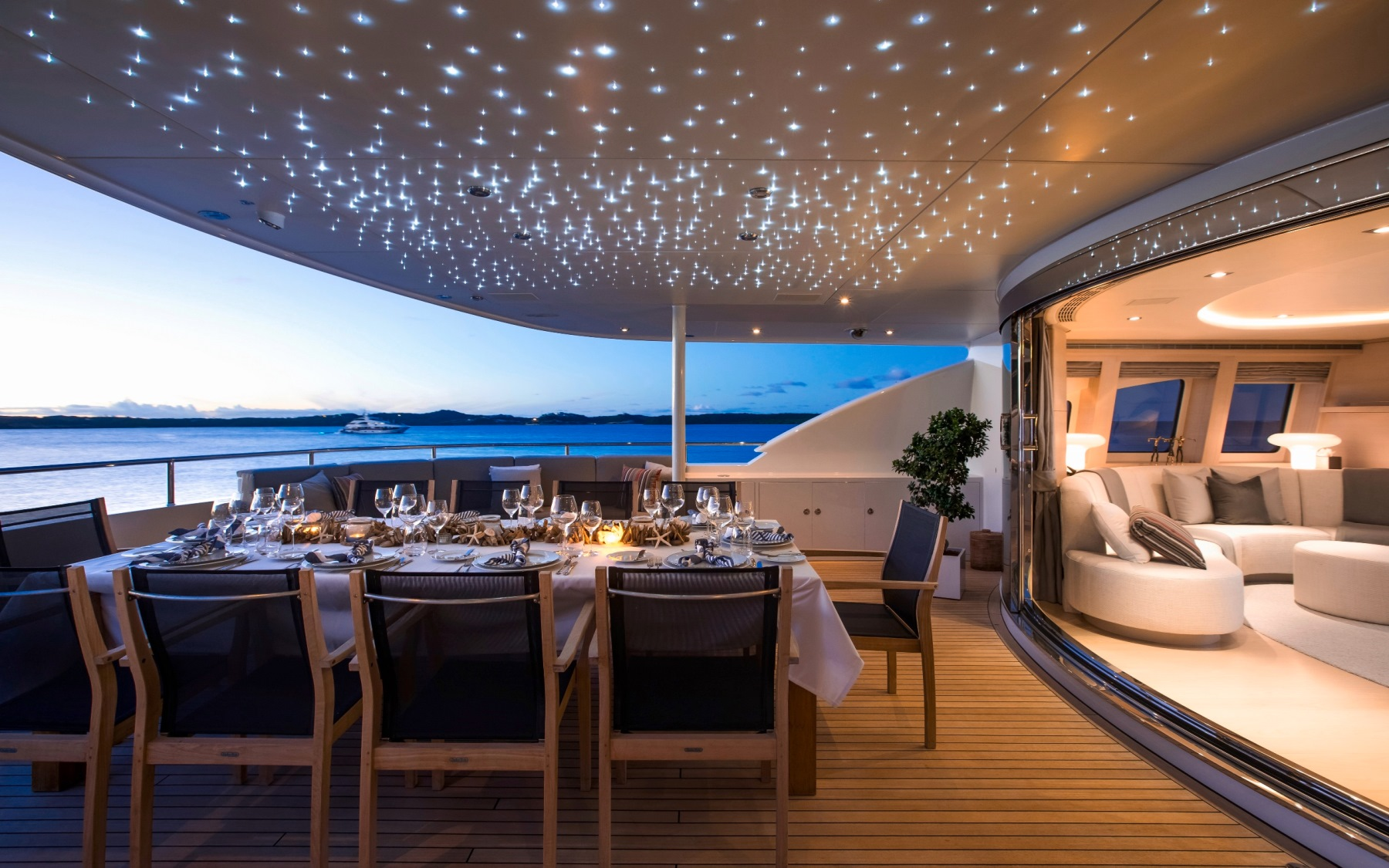 Alfresco Dining On The Upper Aft Deck