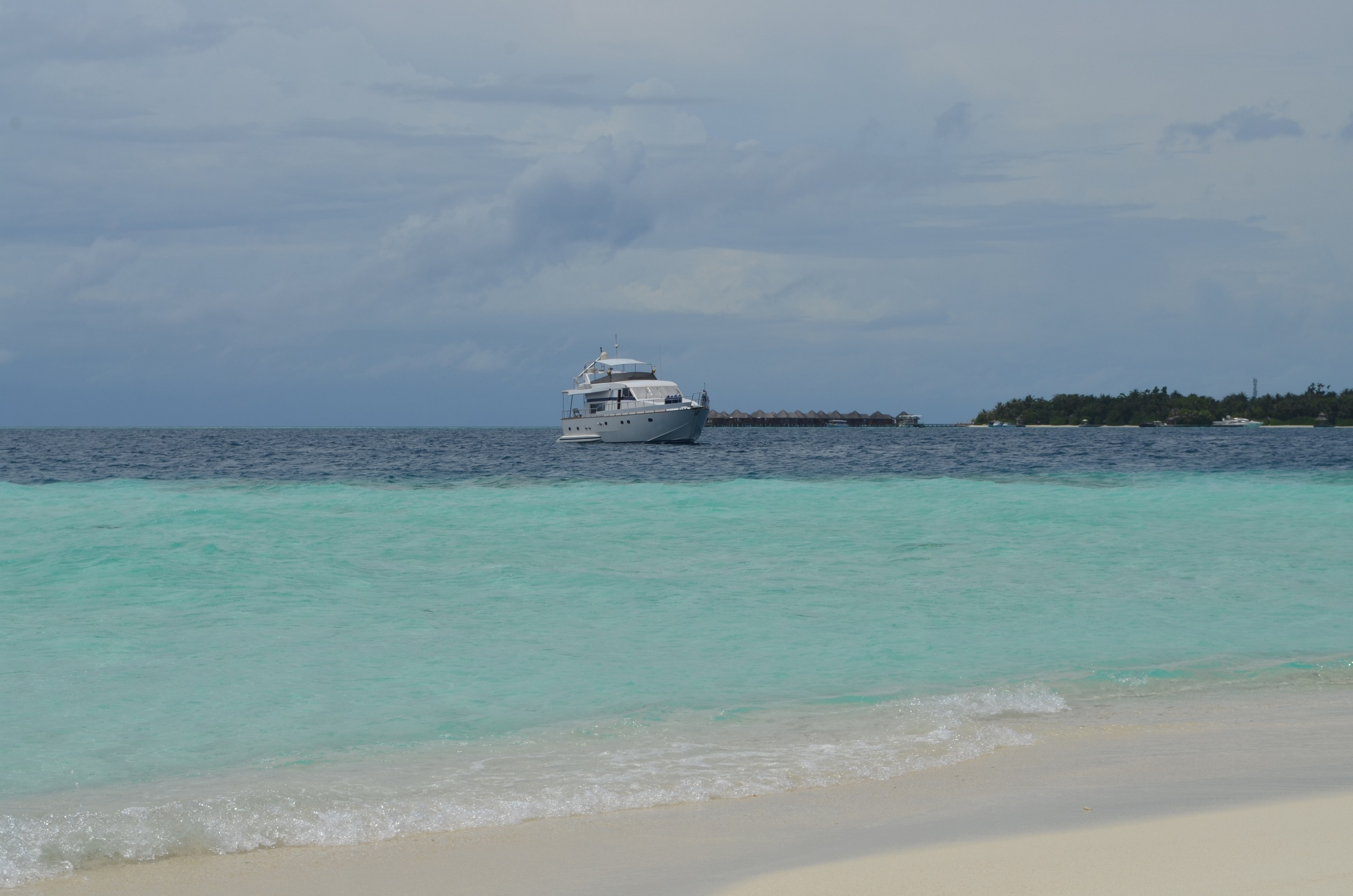 Anchored Off The Beach