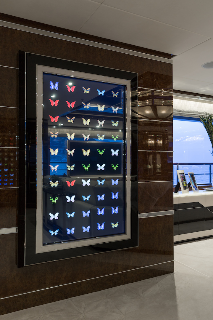 art aboard luxury superyacht