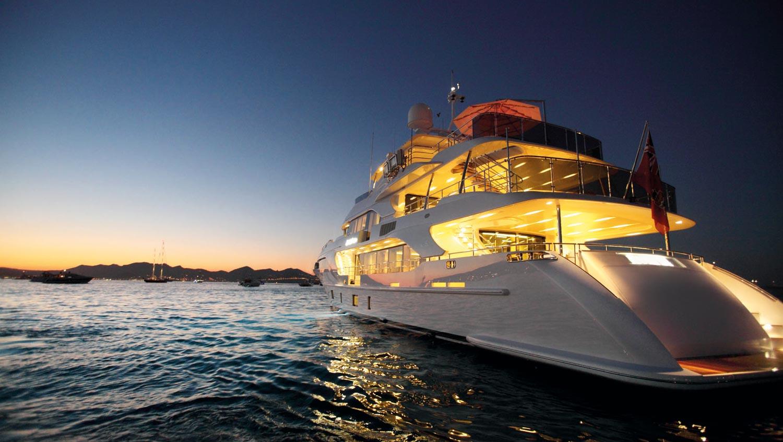 Benetti Classic Supreme Superyacht 132 At Night