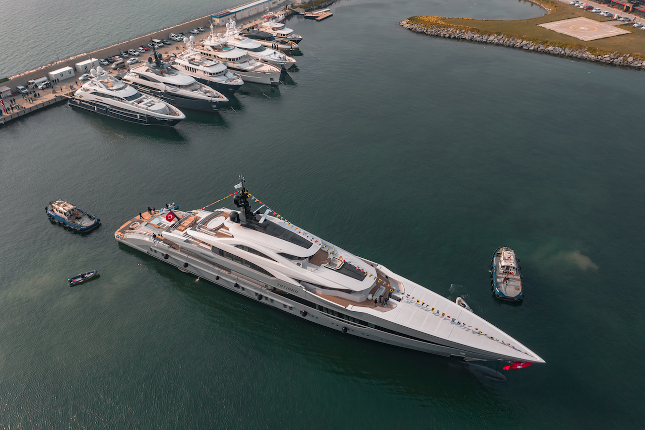 Bilgin Motor Yacht TATIANA Aerial View After Her Launch