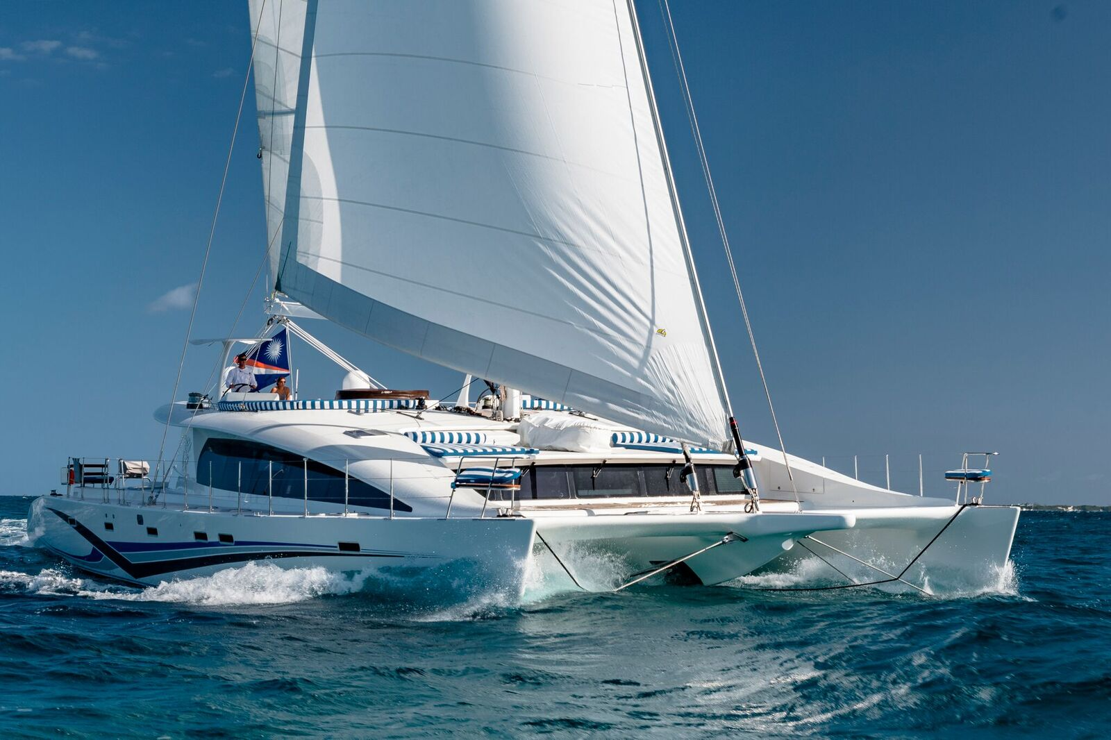 Blue Gryphon Catamaran Sailing