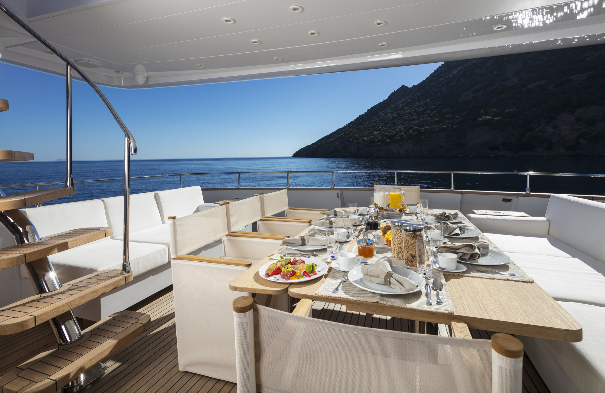 Breakfast On The Aft Deck