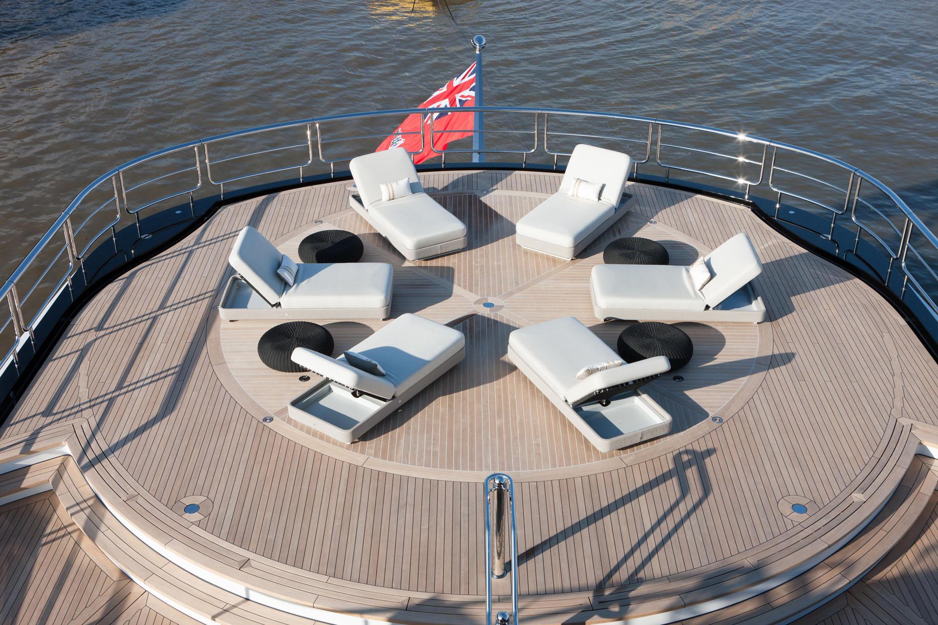 Bridge Deck Aft Sun Loungers