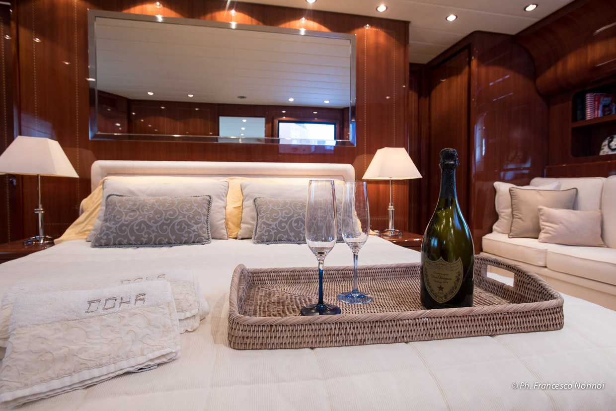 Champagne In The Master Stateroom