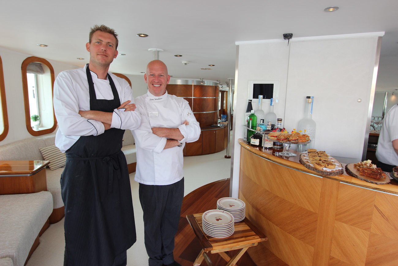 Chef Toine Smulders At MYBA Charter Show