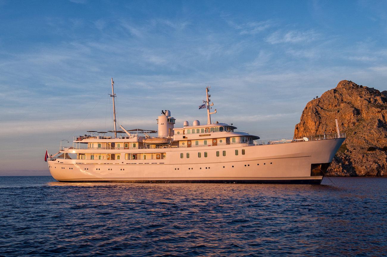 Classic Charter Yacht SHERAKHAN At Sunset