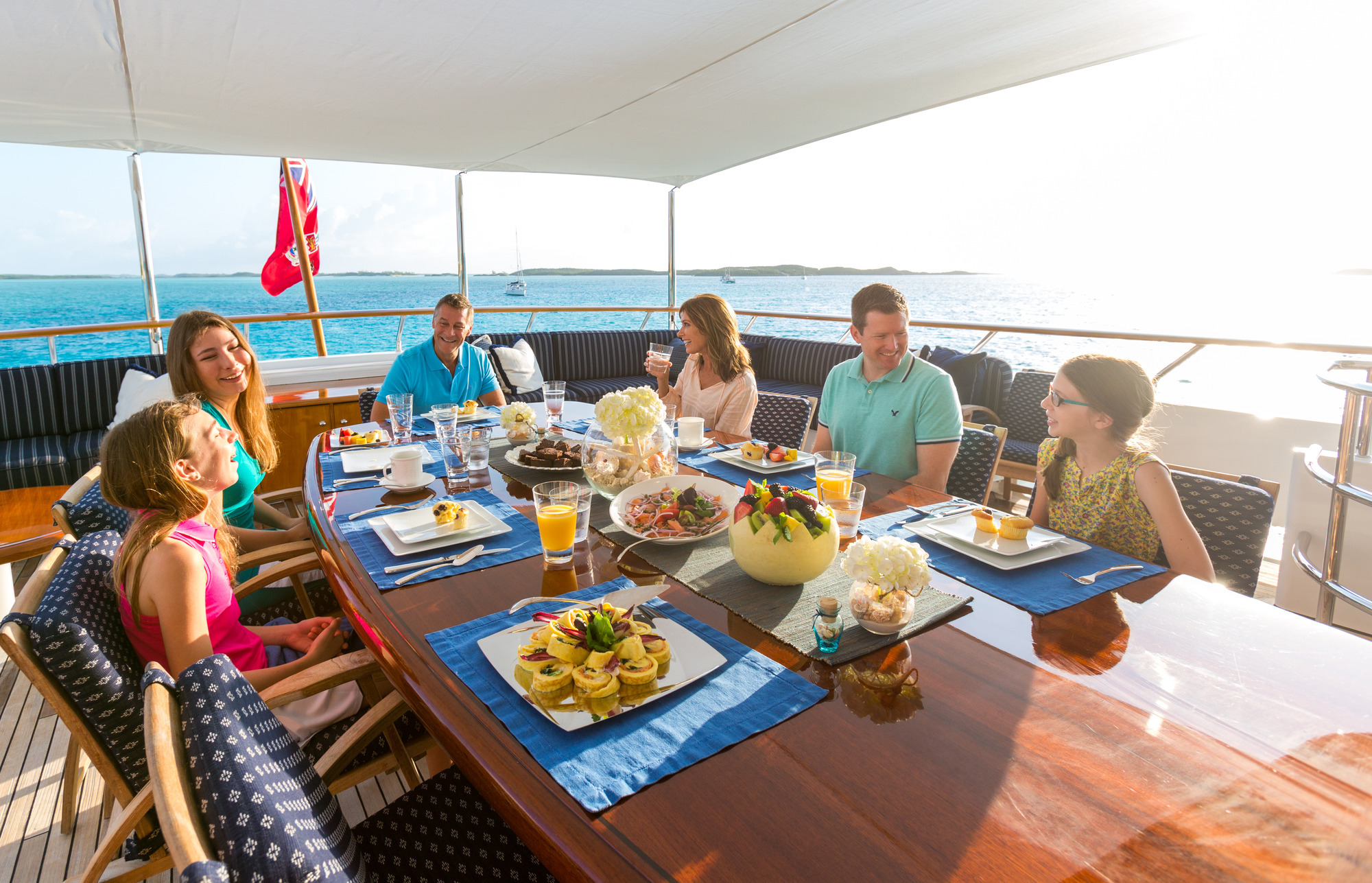 Dining On The Upper Aft Deck