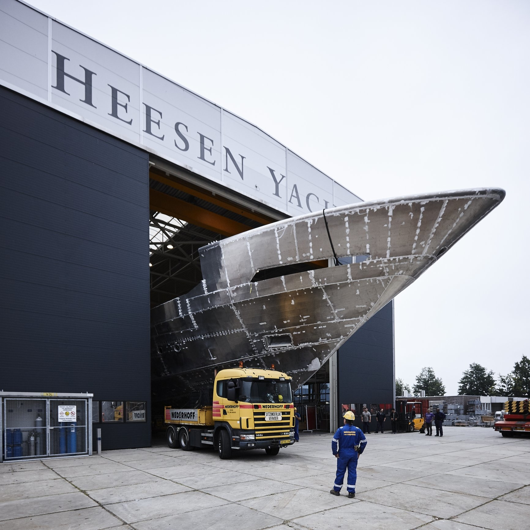 Hull And Superstructure Joined At Heesen Yachts