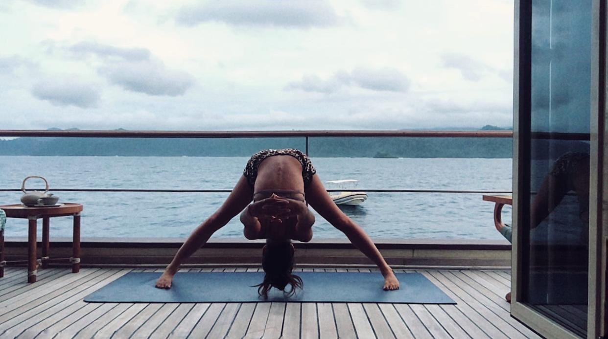 Balcony yoga