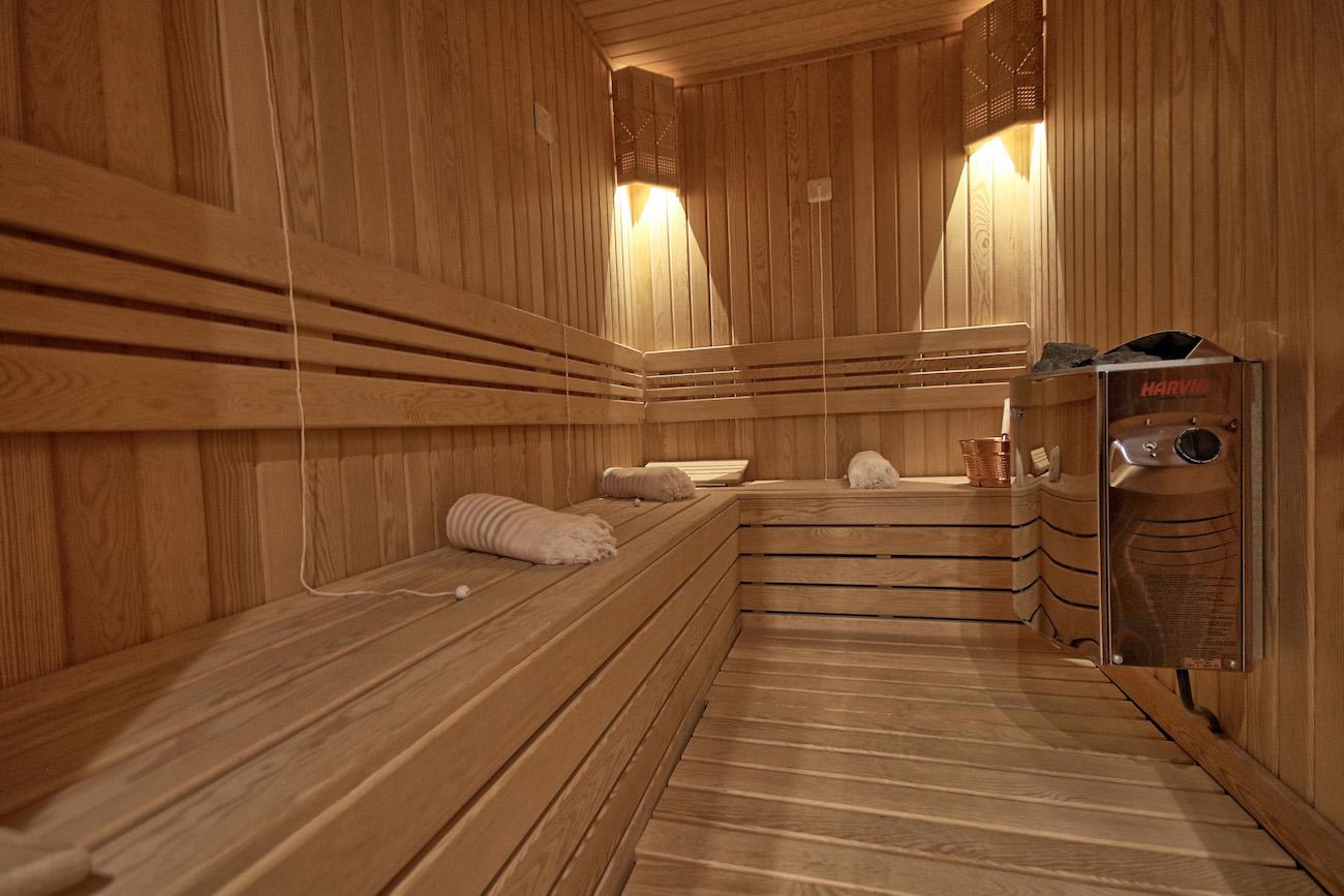 Inside Superyacht Sauna
