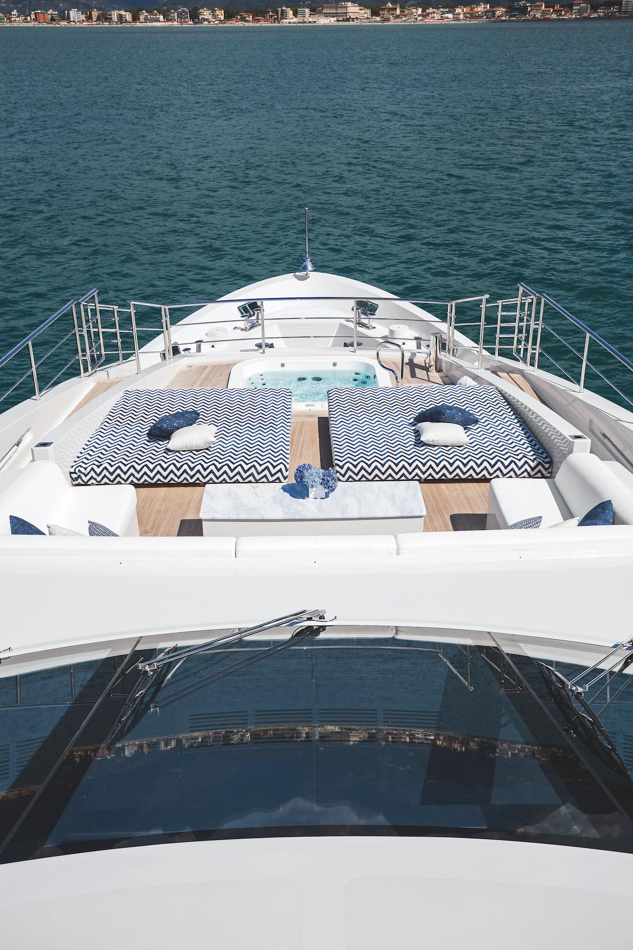 Jacuzzi And Sunbathing Area On The Upper Deck Forward