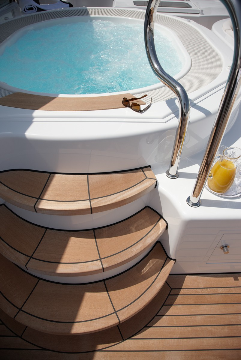 Jacuzzi On The Sun Deck Detail