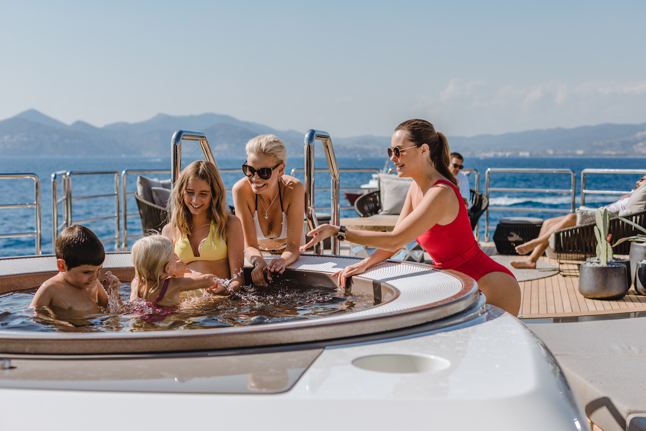 Jacuzzi On The Sun Deck For Relaxing And Fun Experience For Big And Small