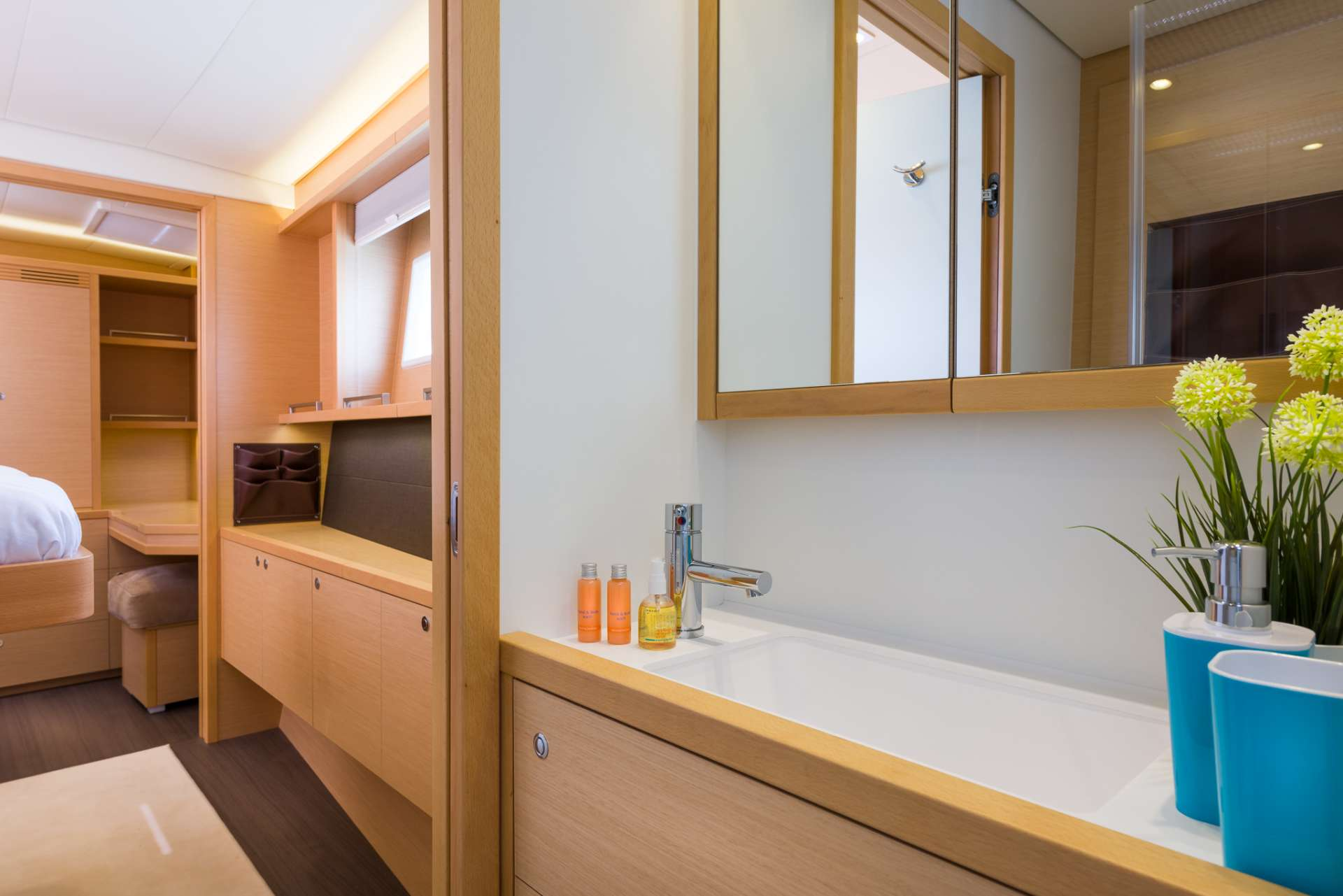 Lagoon 560 PRINCESS SELINE - Ensuite and cabin