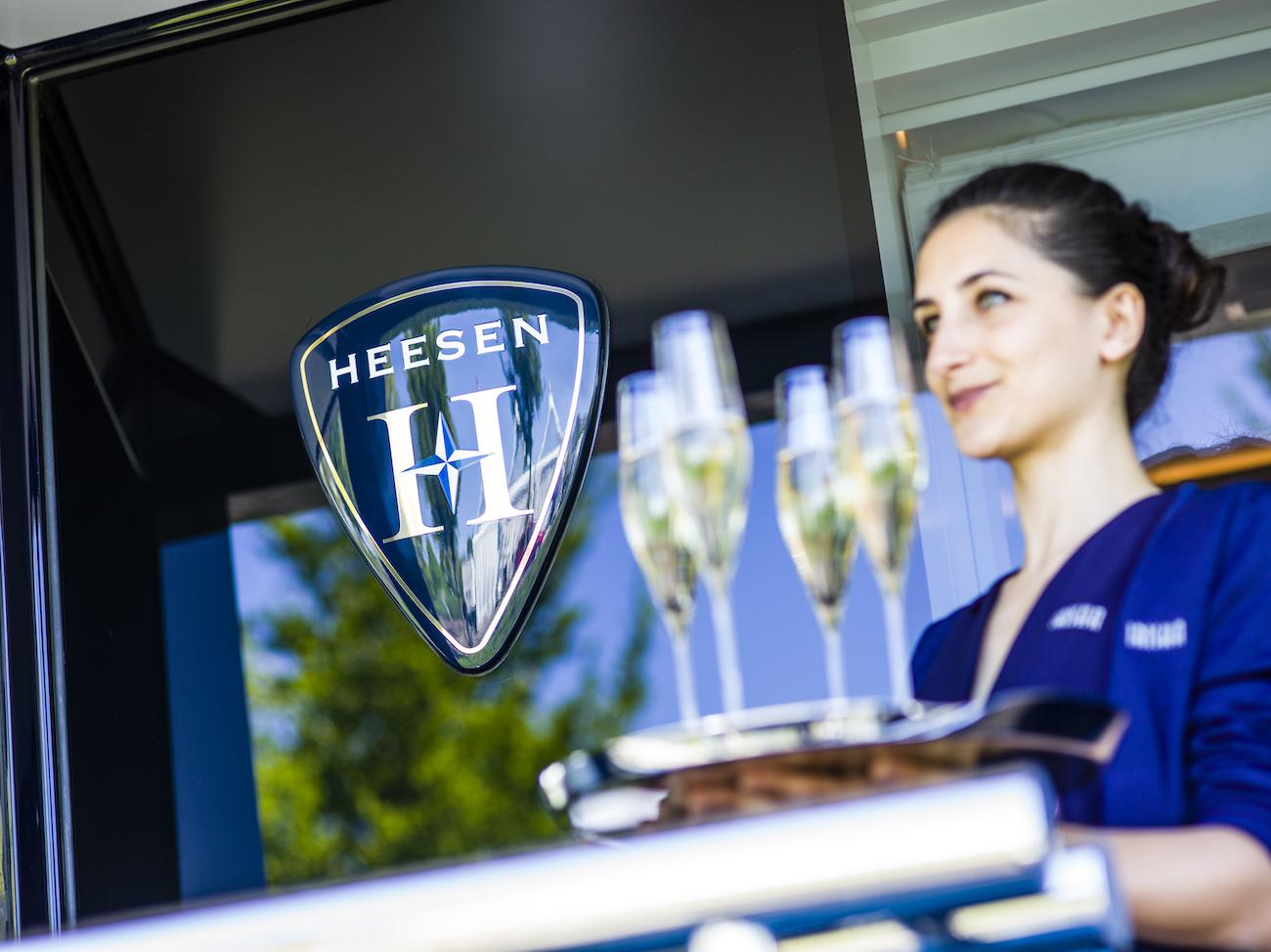 Luxury Service During IRISHA's Christening At Heesen Yachts