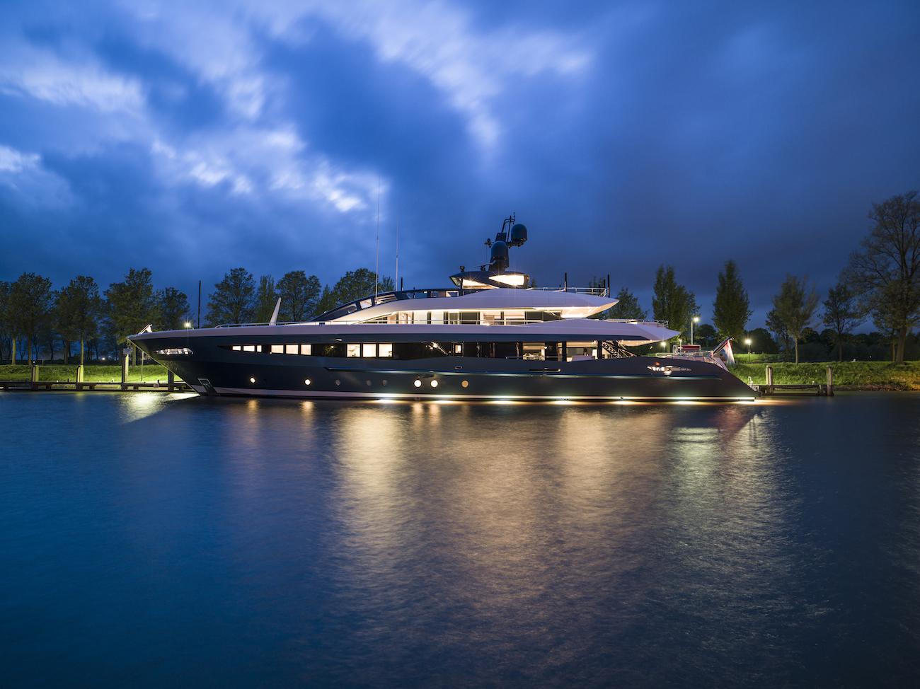 Luxury Yacht IRISHA By Night