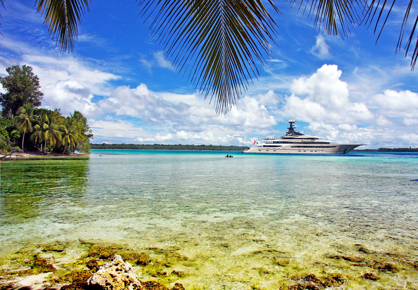 Mega Yacht In The French West Indies (2)