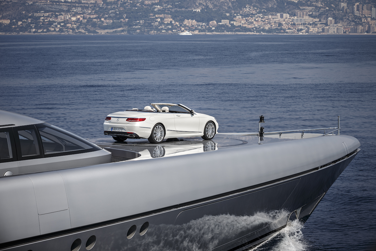 Mercedes S-Class Convertible Luxury Car Aboard Superyacht