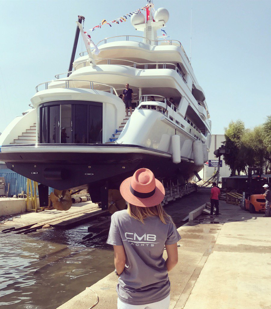 Motor Yacht LIQUID SKY By CMB Yachts - At Her Launch