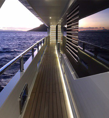 Motor Yacht LIQUID SKY By CMB Yachts - Side Deck