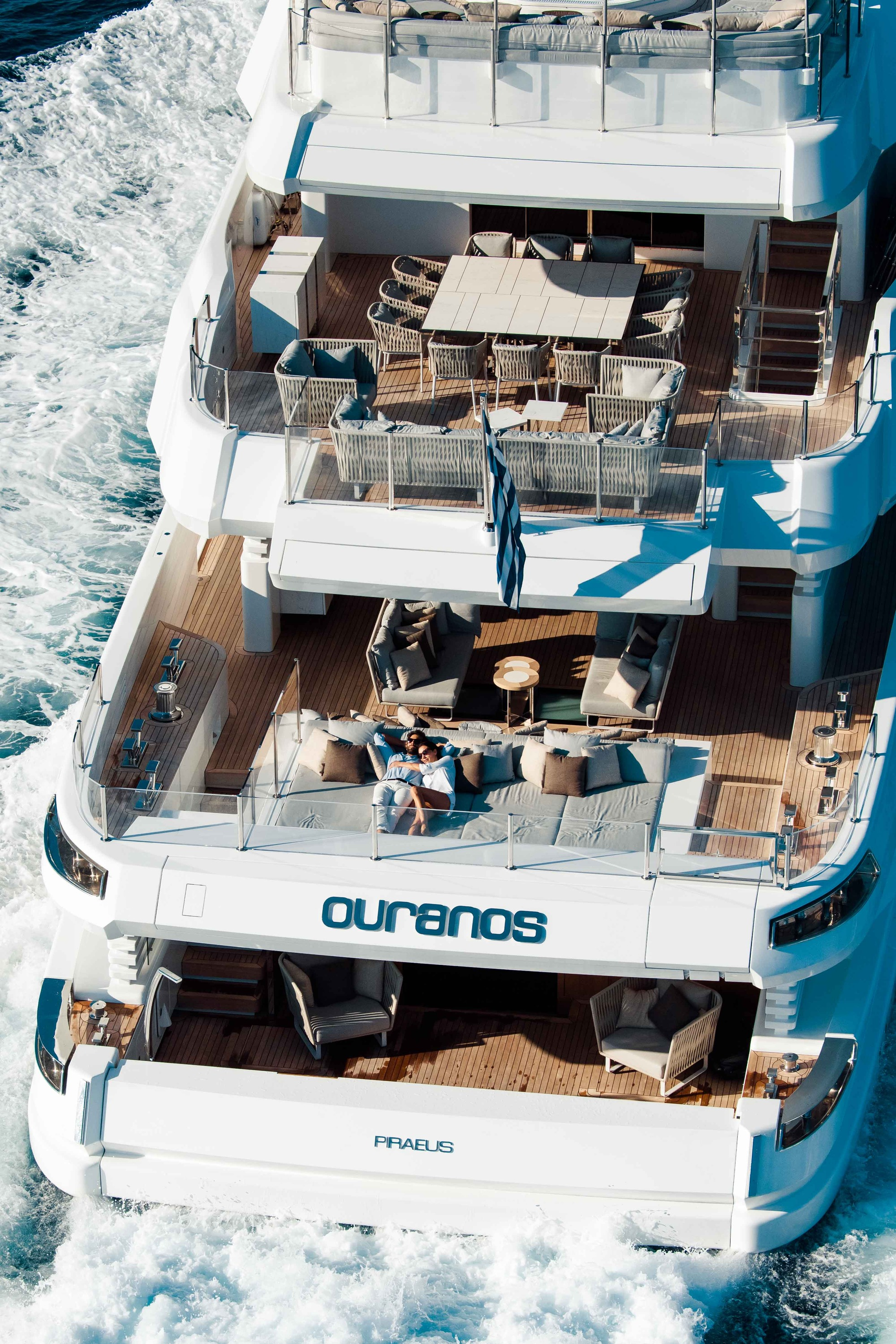 Motor Yacht OURANOS Aft Deck By Admiral Yachts