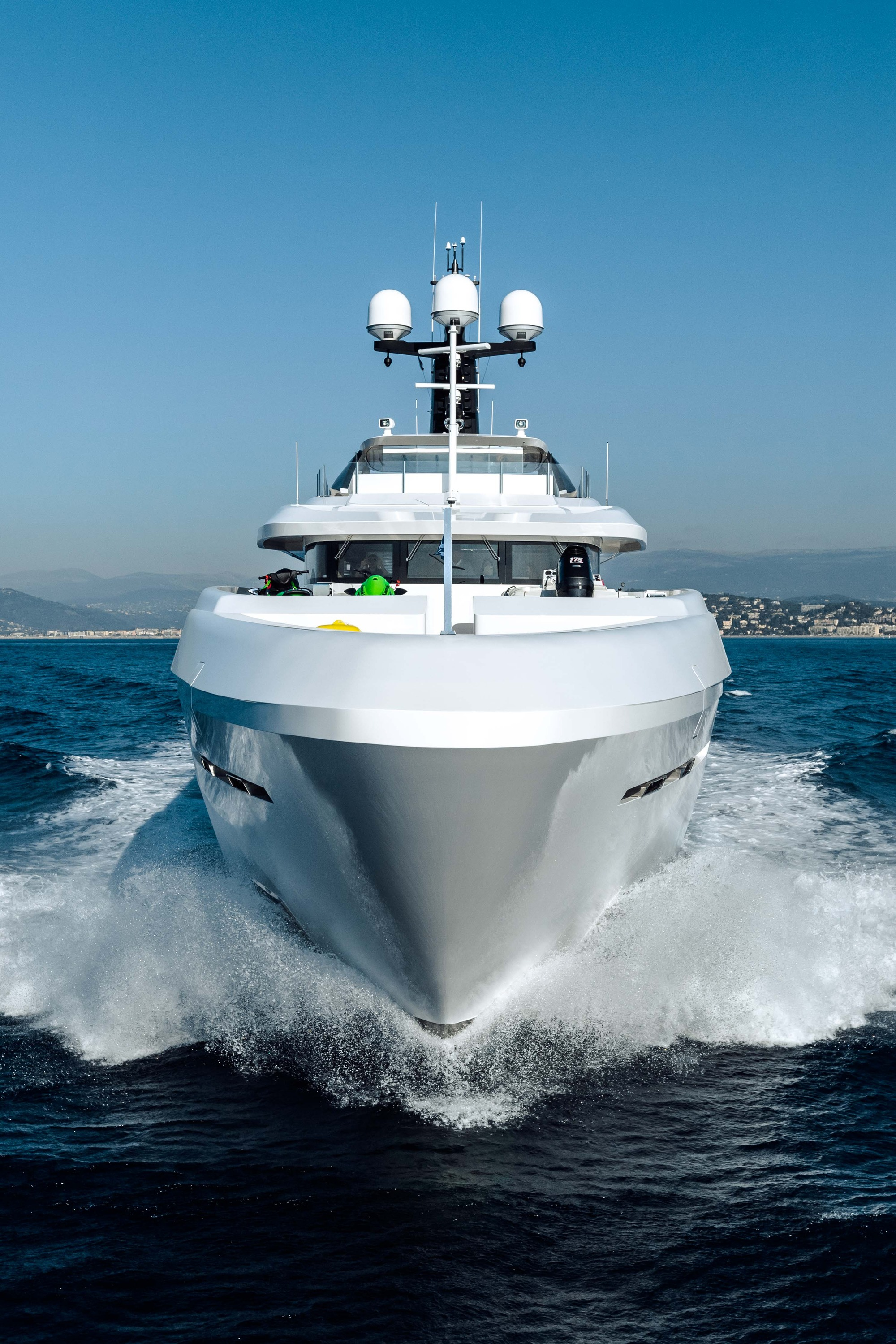 Motor Yacht OURANOS Bow By Admiral Yachts