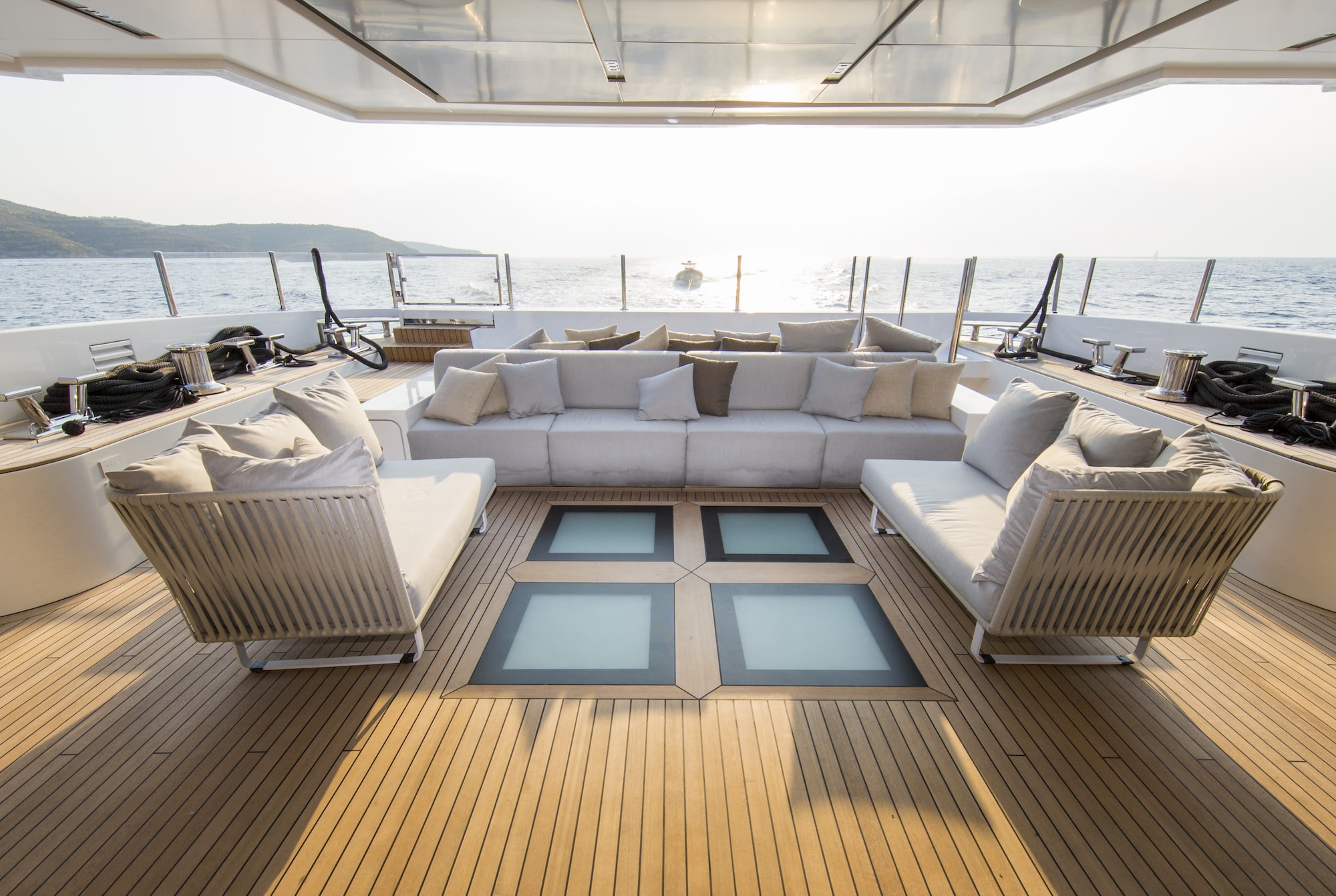 Motor Yacht OURANOS By Admiral Yachts - Aft Deck Seating