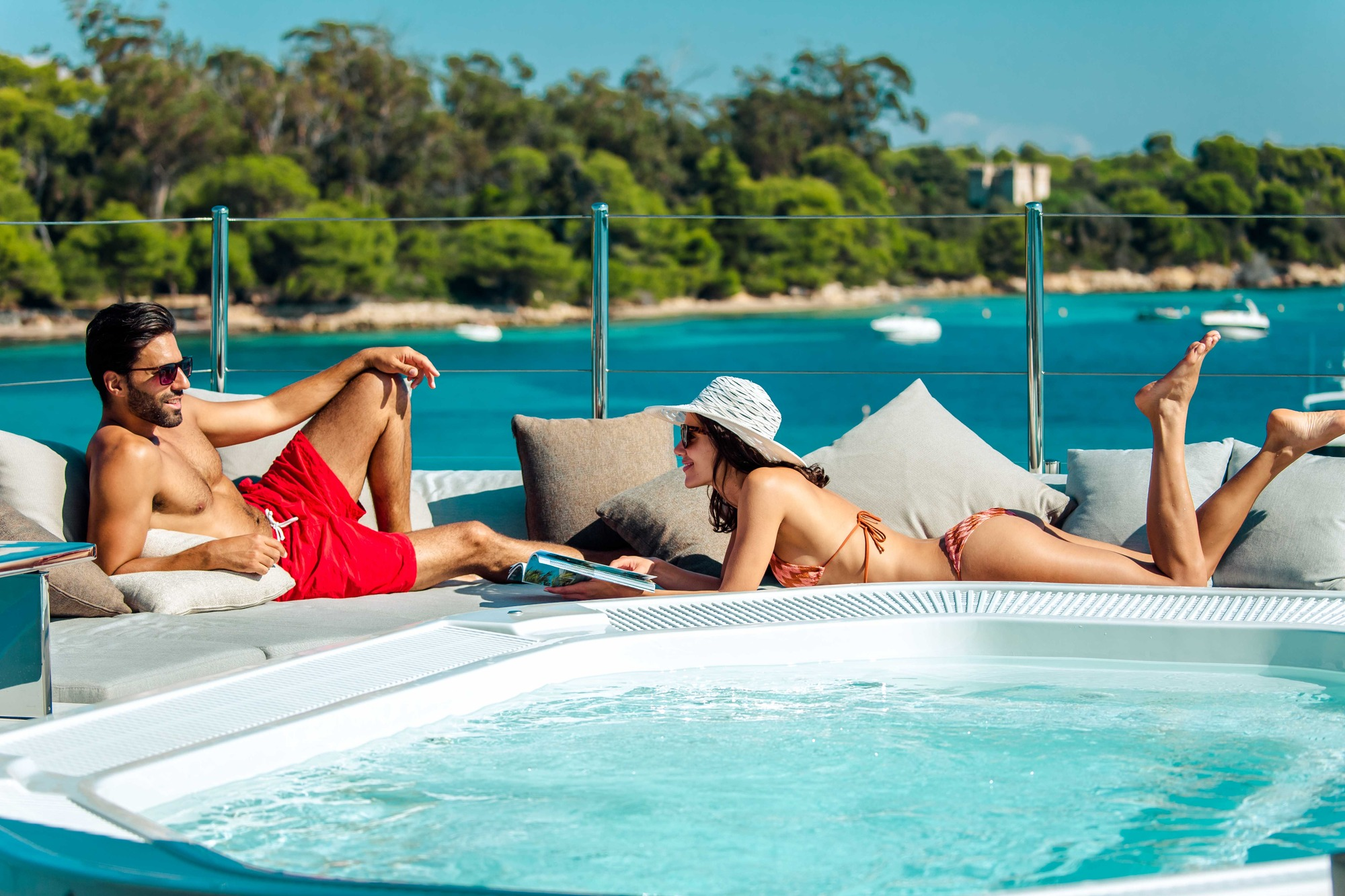 Motor Yacht OURANOS Jacuzzi By Admiral Yachts