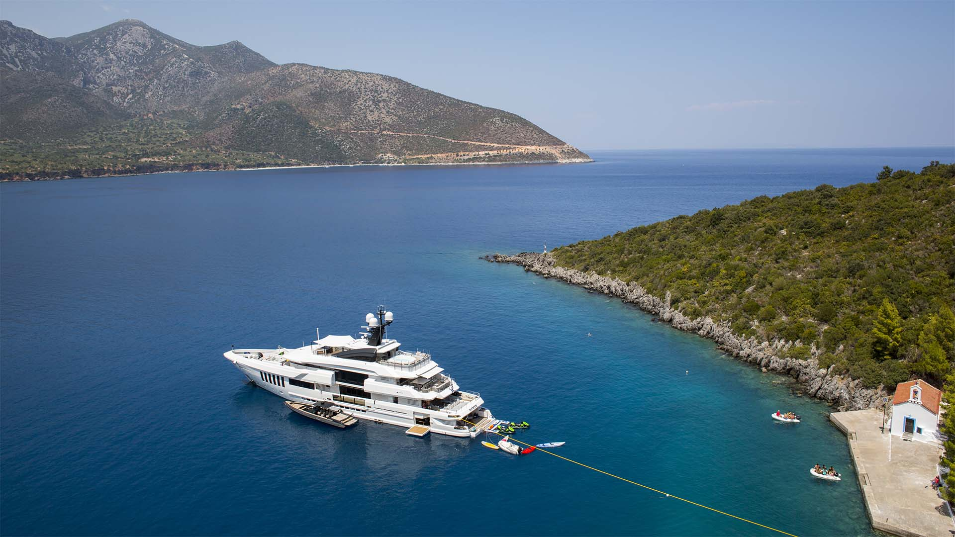Motor Yacht OURANOS Moored Aft To By Admiral Yachts