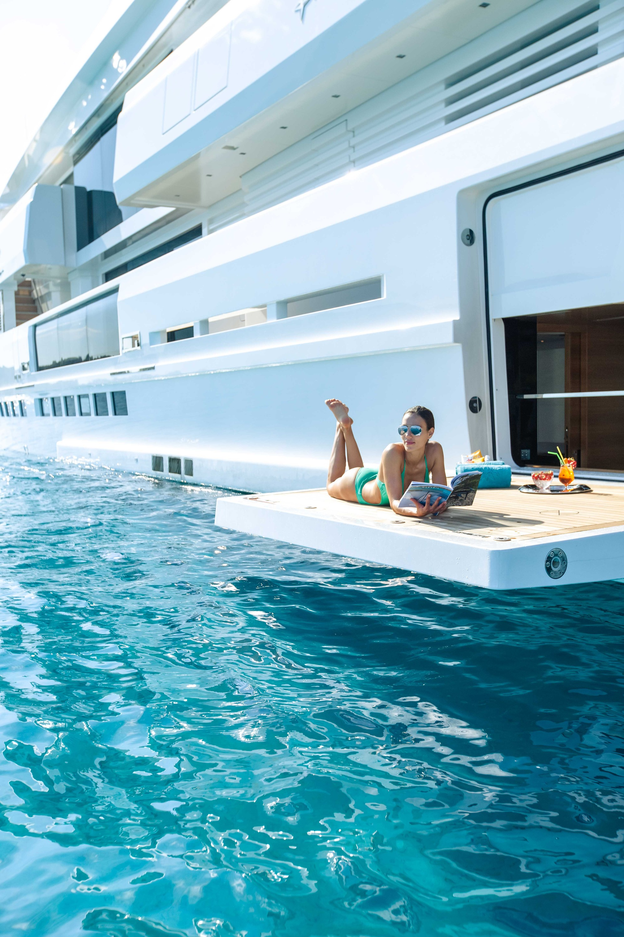 Motor Yacht OURANOS Side Deck By Admiral Yachts