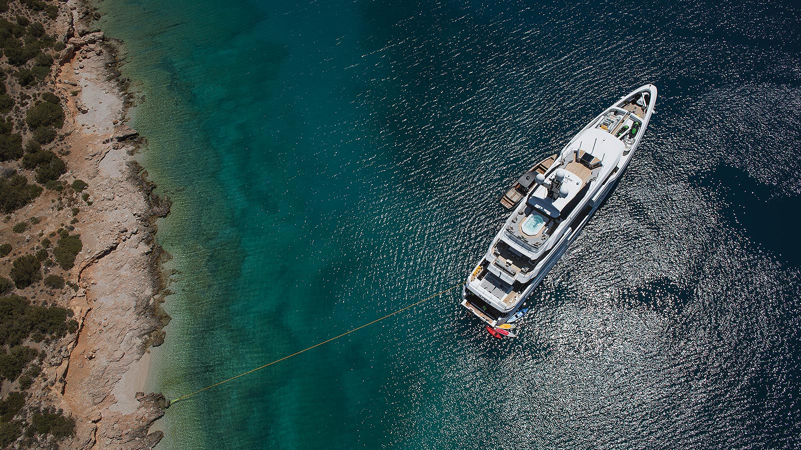 Motor Yacht OURANOS Stern To By Admiral Yachts