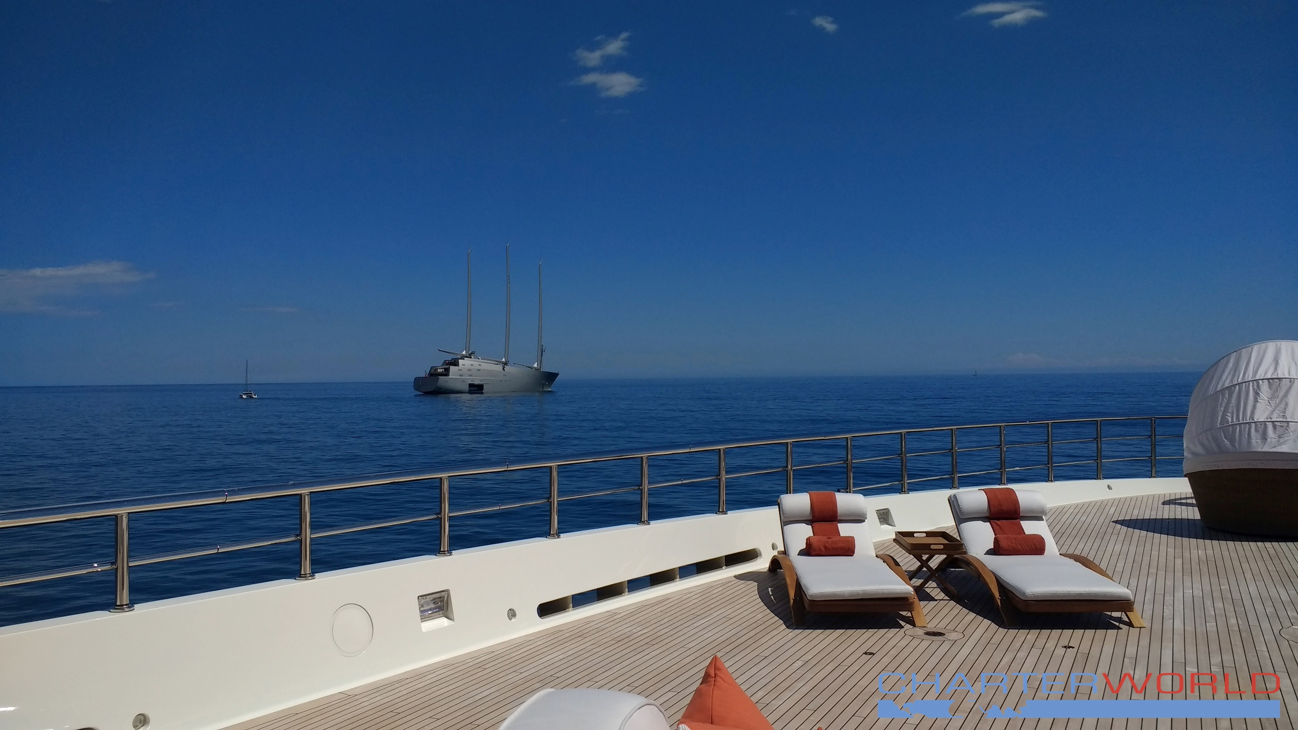 Nobiskrug Sailing Yacht A Taken From Foredeck Of Amels HERE COMES THE SUN