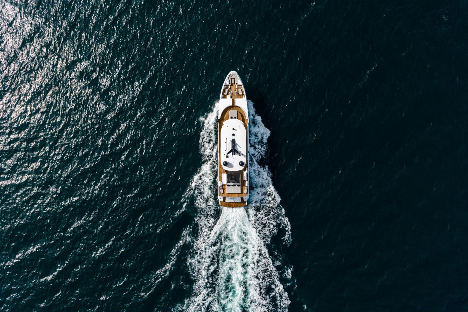 Oceanfast Superyacht SAHANA - Aerial View Running