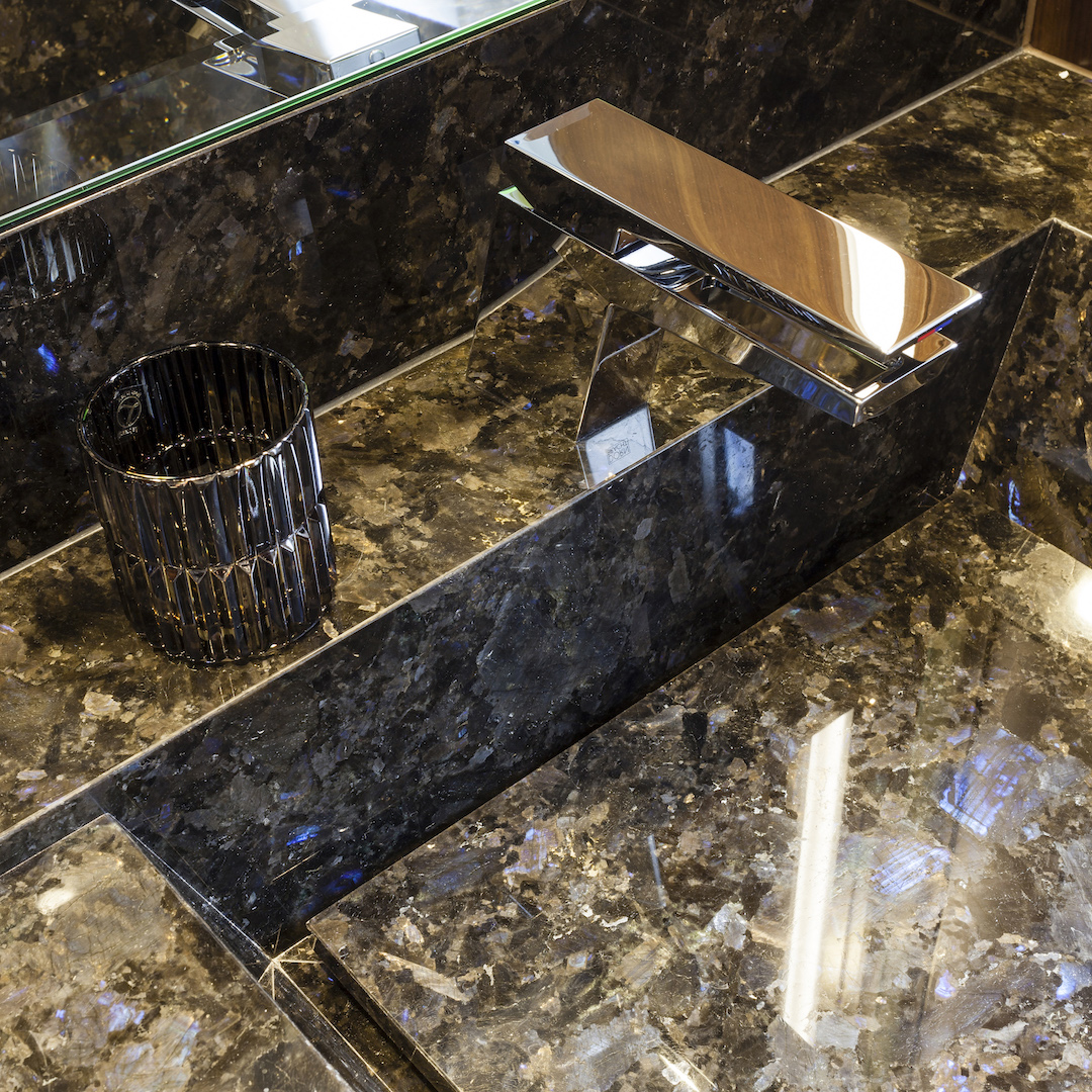 Onyx Elements In The Bathroom