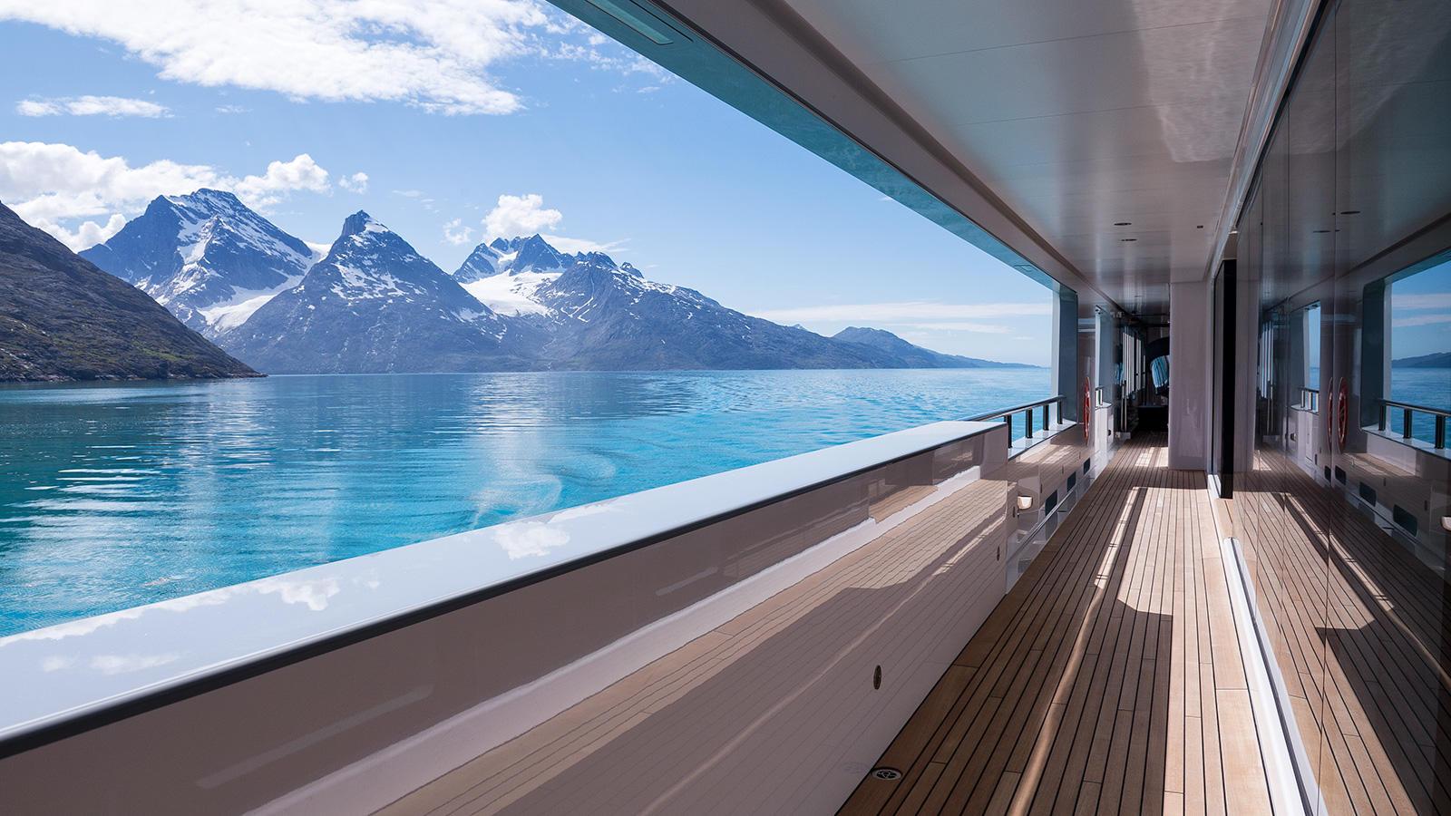 Yacht Cloudbreak by Abeking Rasmussen Explorer Yacht Side Deck