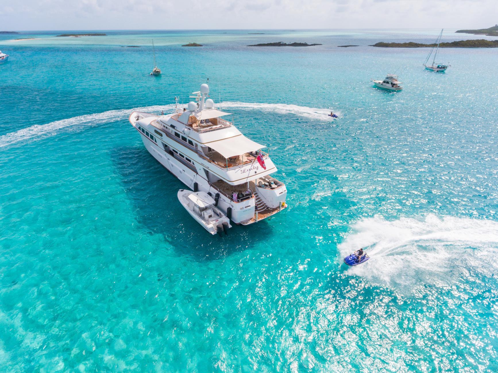 Palmer Johnson Motor Yacht LADY J - Aerial Shot