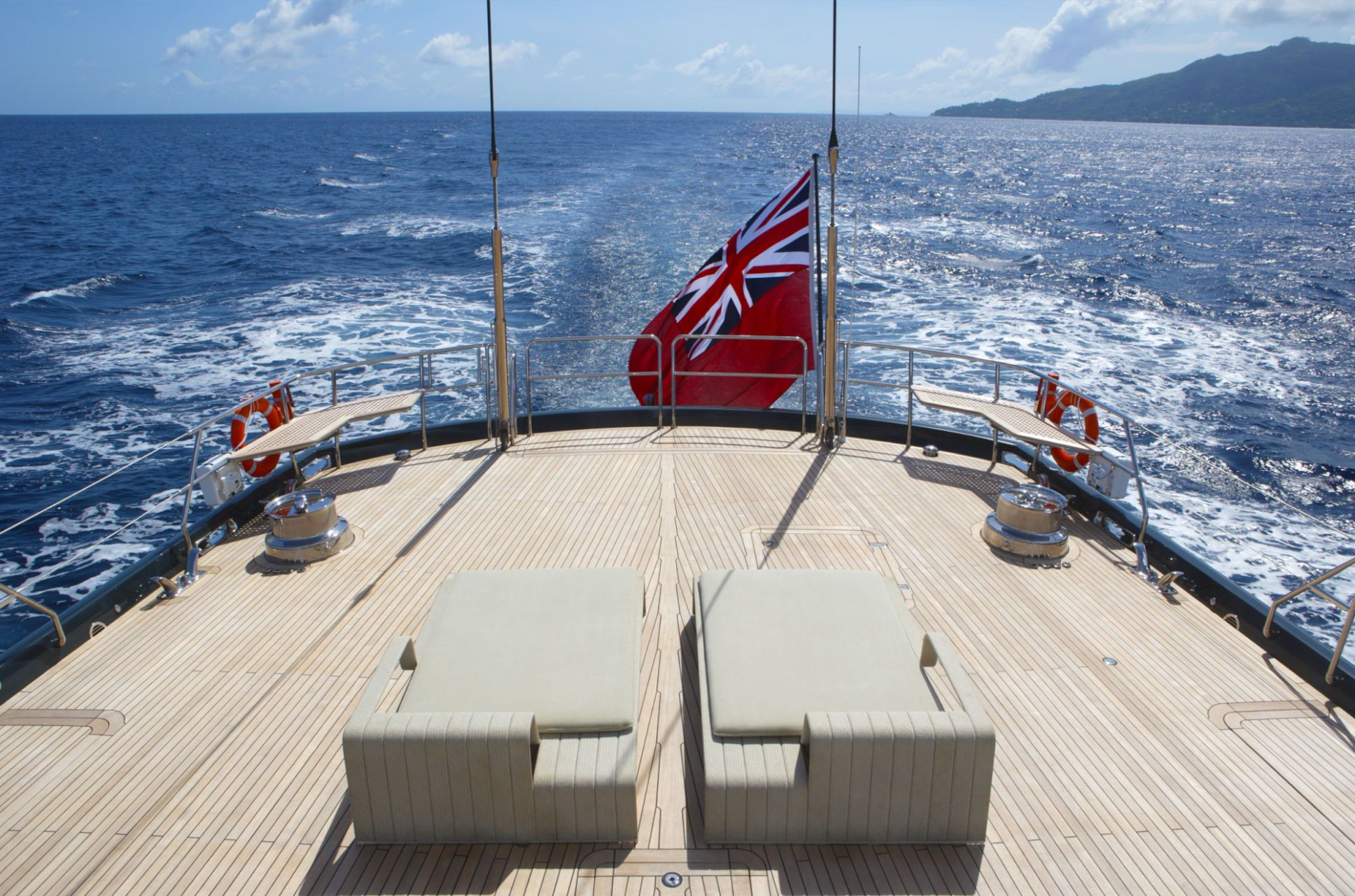 Sailing Yacht RED DRAGON By Dubois - Aft With Flag