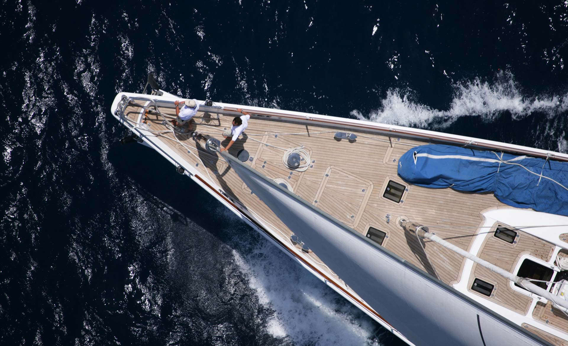 Sailing Yacht RED DRAGON By Dubois - Bow