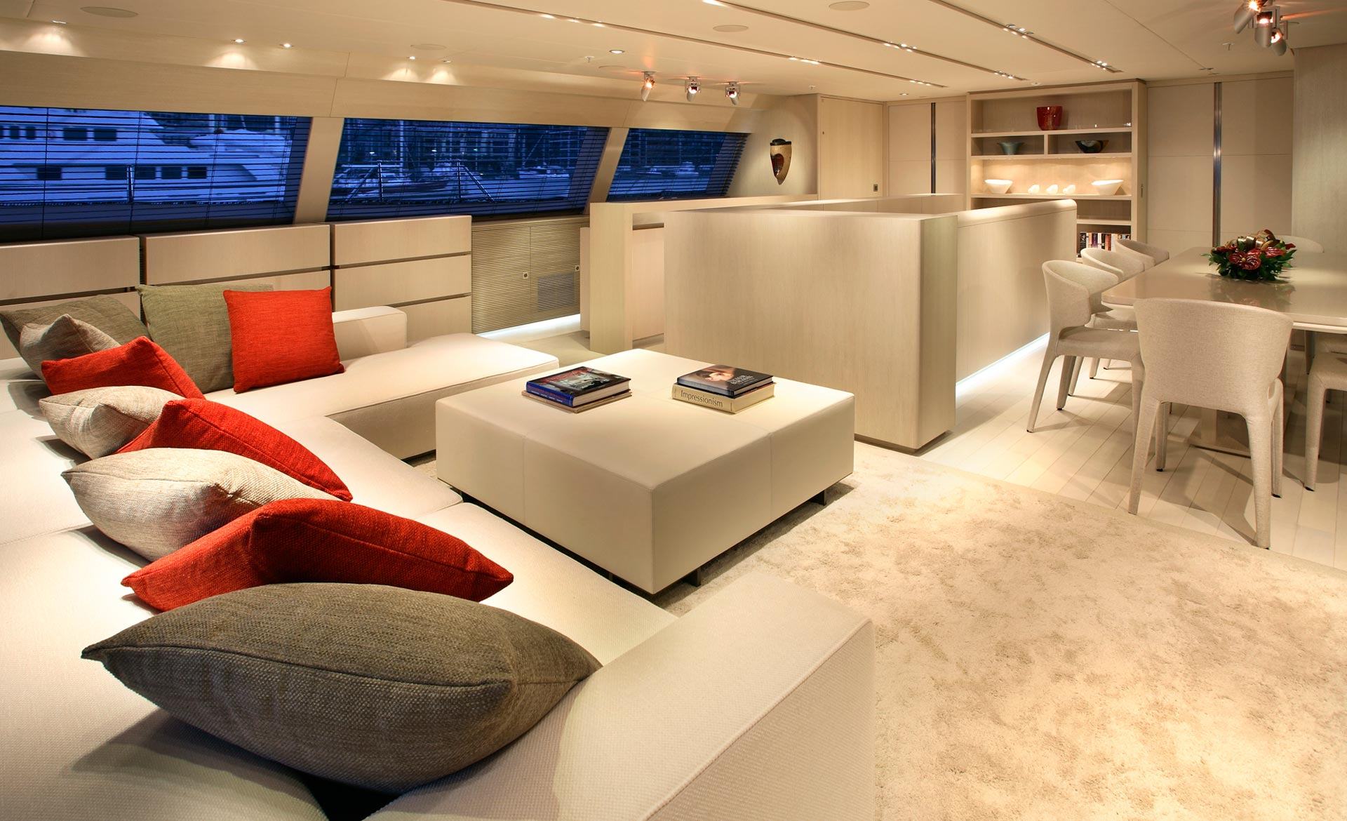 Sailing yacht red dragon by dubois seating notable features unique interior exceptionally engineered and maintained gymnasium impressive